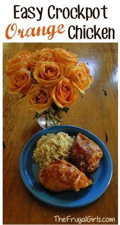 Orange Chicken Slow Cooker Recipes #maincourse #recipes #dinner #food #recipe