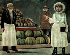 Sanitary inspector woman of the market - Niko Pirosmani 1916