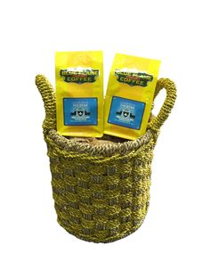 """D-ART Seagrass Double Woven Basket 11""""dia x 15.5""""H, FREE 2 packs of med-roast coffee -- Awesome products selected by Anna Churchill"""