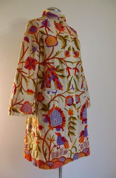 Vintage 1920s Coat SS SARNA Wool Chain Embroidery Medium bust 38