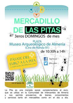 Este domingo 19 de junio pásate de compras por el Mercadillo social de @las_pitas en la plaza de #MuseoAlmeria. De 10:30 a 14:00 h. Vente !!