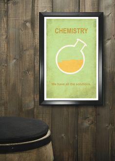 Chemistry 11x17 minimalism poster print - Graduation, Teacher Gifts - Home & Dorm Decor. $16.00, via Etsy.
