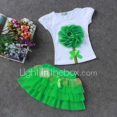 LZH Children Clothes 2017 Summer Kids Girls Clothes Set Flower T-Shirt+Skirt Outfit Girl Sport Suit Children Girls Clothing - Kid Shop Global - Kids & Baby Shop Online - baby & kids clothing, toys for baby & kid Cheap Girls Clothes, Kids Outfits Girls, Kids Girls, Girl Outfits, Girls Dresses, Baby Kids, Girl Toddler, Mom Baby, Baby Set