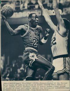 Michael Jordan and Kevin McHale - Boston Celtics