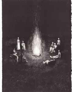Fire (2013), etching - Sophie Lécuyer
