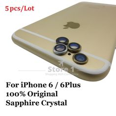 5pcs/Lot Original for Apple iPhone 6 / iPhone 6 Plus Camera Lens; Sapphire Crystal Back Camera Glass Lens for iPhone 6 4.7/ 5.5