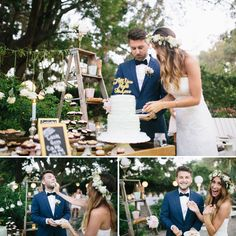 Loving this set up around the cake! Very rustic casual