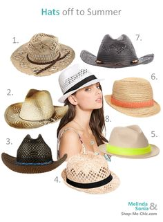 Hats off to Summer! What style of hat will you be rocking?