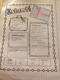 OpenIdeat: Piipahdus pohjolaan (4. luokan Pohjoismaa-teema). Puffy Paint, Ipad, Bullet Journal, Rainbow, Science, Teaching, Finland, Countries, Rain Bow