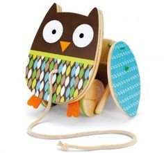 Skip Hop Treetop Friends Flapping Owl Pull Toy - This feathered friend is ready to speed along with your little one! The brightly colored owl flies a Toddler Toys, Baby Toys, Kids Toys, Push Toys, Natural Toys, Non Toxic Paint, Learning Toys, Wood Toys, Shops