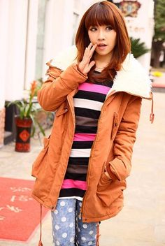 Amazon.com  Promithi Womens Winter Parka Fur Collar Thick Padded Long Coat  Outerwear Jacket a38dfe1cf