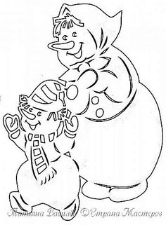 Давно хотелось сделать семейство Снеговичков на зимних окошечках:) Наконец нашла подходящих героев в детских раскрасках и вырезала вытынанки. И вот, что в итоге получилось))) фото 9