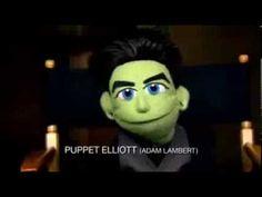 Darren, Chris Colfer and Adam Lambert Get 'Felt Up' in Puppet Promo
