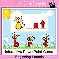 Busy Bees Beginning Sounds - Interactive PowerPoint Game –