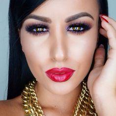 Amrezy - Smokey Eyes with Glossy Red Lips