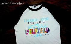 I Wouldn't Trade My Life - Proud Oilfield Wife Glitter and Aztec Print - Ashley's Custom Apparel