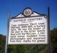 Hatfield and McCoy feud--Hatfield Landmark