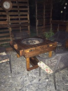 DIY Pallet Fire Pit table