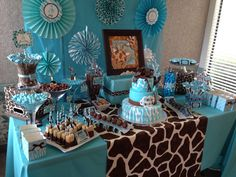 Check out this Star Boy Baby Shower.baby boy shower decoration ideas best cheap baby shower decorations ideas on of cheap boy baby.Beautiful backdrop for a boy baby shower! Baby Shower Candy Table, Fiesta Baby Shower, Baby Shower Giraffe, Baby Shower Parties, Baby Shower Gifts, Shower Party, Elephant Baby, Shower Favors, Baby Shower Decorations For Boys