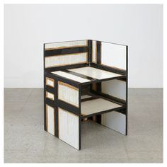 Tom Sachs - Donald Judd hacked chair [fiberglass and epoxy resin on IKEA furniture particleboard, 2009]