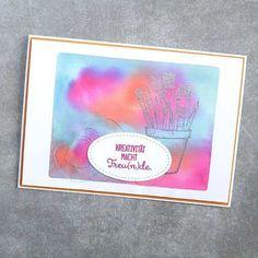 Beim Stempeln mit Acrylblock kann man sich farbtechnisch total austoben 😅 www.himmelsfee.de