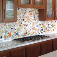 kitchen backsplash, modern ceramic tile, remodel, mosaic