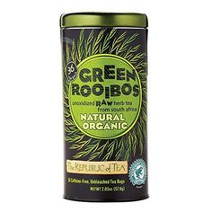 The Republic Of Tea, 100% Organic Natural Green Rooibos Tea Bags, 36 Tea Bag Tin by The Republic of Tea -- Awesome products selected by Anna Churchill