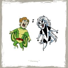Ever find yourself wondering who in the DC and Marvel universes woud be best friends? So did artist Darren Rawlings with his Little Friends series of drawings. It's like that DC vs. Marvel event from the only tiny and cute. Dc Comics Vs Marvel, Marvel Heroes, Superhero Design, My Superhero, Silver Banshee, Arte Nerd, Comic Villains, Artist Alley, Cartoon Crossovers