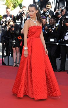Bella Hadid in Christian Dior Couture.