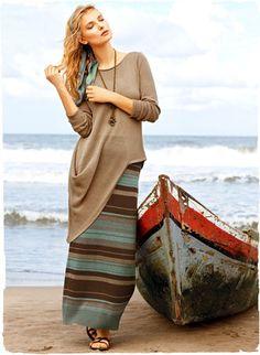 Pima Cotton Playa Skirt. Peruvian Connection.