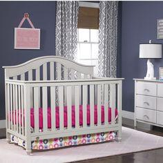 Fisher-Price Kingsport Crib in Misty Grey