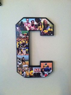 Best 20 Gift Ideas for Dad On Senior Night that are Out Of This World – Home Inspiration and DIY Crafts Ideas Alphabet Beads, Letter Beads, Brief Collage, Collage Foto, Letter Collage, Senior Night Gifts, Diy Shadow Box, Cheerleading Gifts, Candy Bouquet