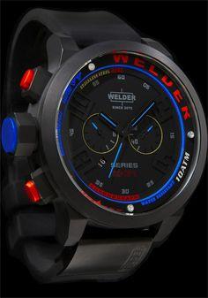 Welder K31 2601 Black Blue Red Chronograph