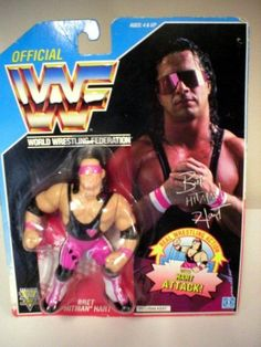1992 RARE WWF HASBRO BRET - Click image twice for more info - See a larger selection of Hasbro  Toys at http://zkidstoys.com/product-category/hasbro/- kids, baby toys , infant toys , nursery toys, kids git ideas, toddler gift ideas, baby gift ideas,children toys,kids toys,grown up toys toys,educational toys, activity toys.