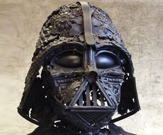 Darth Vader bust made entirely from recycled metal. By French Artist Alain Bellino.