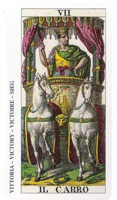 07-Cartas de Tarot - El Carro-Tarot, Astrología, Horóscopos, Metirta