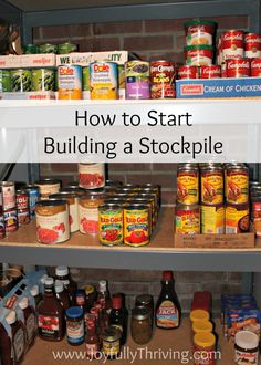 Here's a list of items that anyone can stockpile to save money! (I could use this list as a guideline and make the items by canning it and then stockpile it) This is a great place to start saving on your grocery bill Emergency Food, Survival Food, Prepper Food, Survival Quotes, Survival Tips, Emergency Planning, Emergency Supplies, Survival Stuff, Survival Skills
