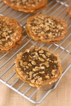 A recipe for Dark Chocolate Oatmeal Lace Florentines