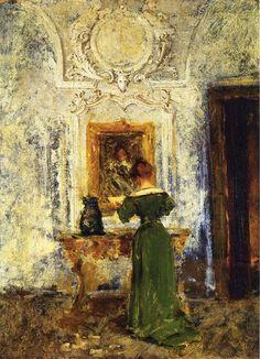 William Merritt Chase - Woman in Green aka Lady in Green