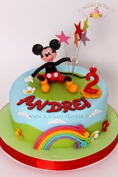 Tort cu Mickey pentru Andrei Bolo Minnie, Mickey Cakes, Minnie Mouse Cake, Mickey Mouse, Frozen Birthday Cake, Specialty Cakes, Girl Cakes, Let Them Eat Cake, Amazing Cakes