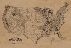 Tolkien Style Map of USA. Hard to see, but: Tolkien. Constellations, United States Map, 50 States, Map Globe, Fantasy Map, Us Map, Lord Of The Rings, Middle Earth, The Hobbit