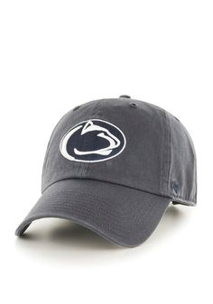 c0d752a1930b2  47 Penn State Nittany Lions Mens Grey Clean Up Adjustable Hat