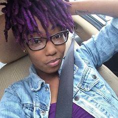 purple locs