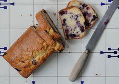 A blueberry loaf. No butter just yoghurt.