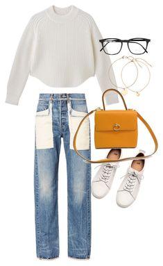 """Untitled #21613"" by florencia95 ❤ liked on Polyvore featuring H&M, Helmut Lang, CÉLINE and Yves Saint Laurent"