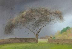 Nicholas Hely Hutchinson (b.1955) — Birds in the Old Apple Tree - Scatterford (800x551)