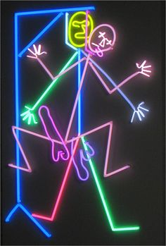 """Bruce Nauman, """"Hanged Man"""", 1985  http://lommaert.com/2012/01/27/maastricht-the-home-of-old-and-new-masters/"""
