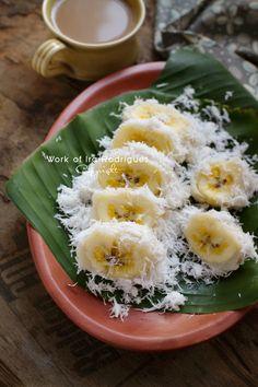 Eating Pisang Rai In Bali.