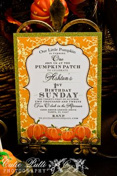 Items similar to Pumpkin Patch Invitations, Printable Custom Invitations by Cutie Putti Paperie on Etsy Fall First Birthday, Fall Birthday Parties, Halloween Birthday, Birthday Party Themes, Birthday Ideas, Pumpkin Patch Birthday, Pumpkin Patch Party, Little Pumpkin Party, Tgif