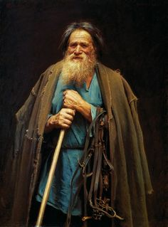 Крамской. Крестьянин с уздечкой. Мина Моисеев. 1883